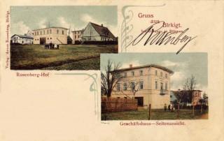 Historická pohlednice z obce Březová