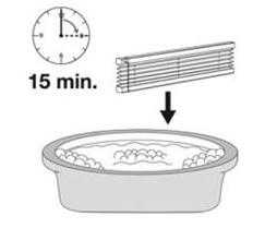 Namočení plisé rolet před samotným praním