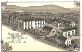 Pohlednice továrny na výrobu rolet v Březové u Broumova