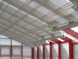 Baldachýn Reno - systém interiérové zastínění šikmých ploch a světlíků