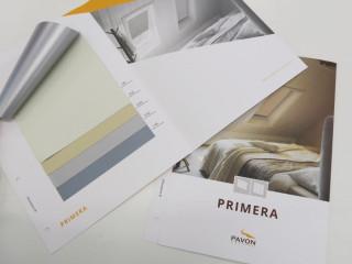Nové odstíny luxusní zatemňující látky Primera se zadní odrazivou aluminiovou vrstvou