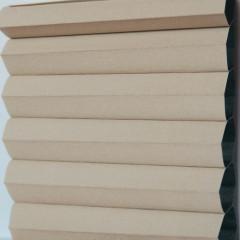 Textilie pro plisé rolety - Blackout Alu 0302 / kolekce dvojvrstvého PLISÉ Honeycomb, připomínající včelí plástve