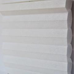 Textilie pro plisé rolety - Uni 0101 / kolekce dvojvrstvého PLISÉ Honeycomb, připomínající včelí plástve