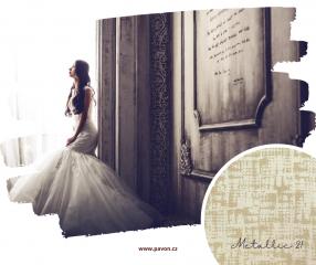 Látky z kolekce Design s metalickými efekty přináší nádech luxusu.