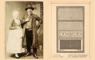 Anton Rosenberg s manželkou a jeho samonavíjecí roleta FLOS