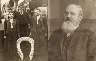 Anton Rosenberg s dcerami - zakladatel výroby rolet ve střední Evropě